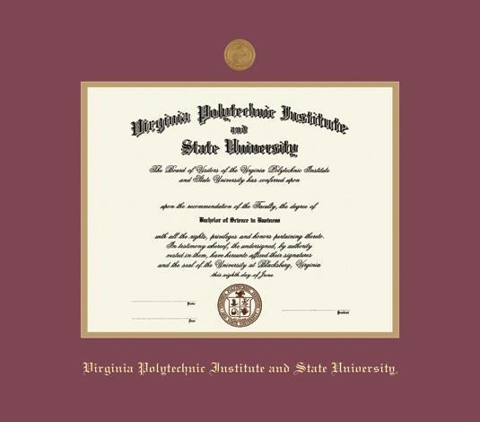 University of Virginia  Diploma Frames  Church Hill Classics