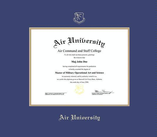 Custom Diploma Frames & Certificate Frames - Framing Success: Air ...