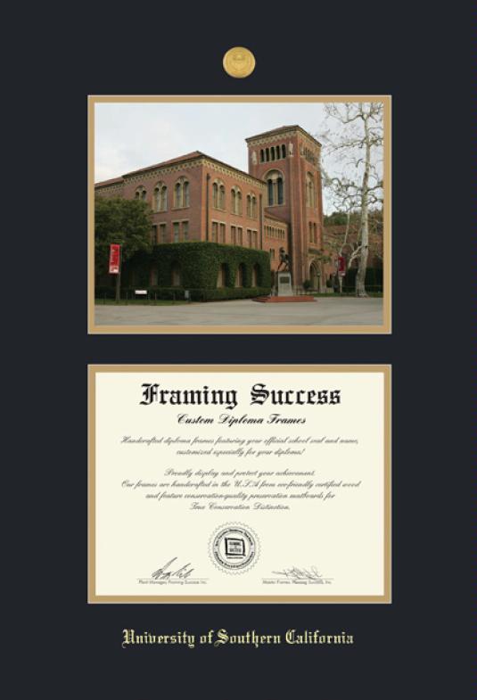 Custom Diploma Frames & Certificate Frames - Framing Success: USC-BA ...
