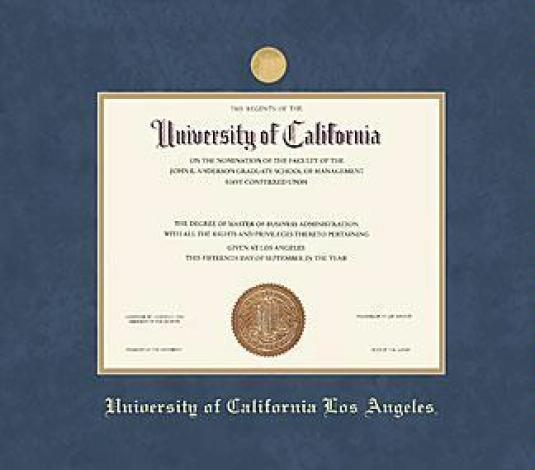 Custom Diploma Frames & Certificate Frames - Framing Success: UCLA ...