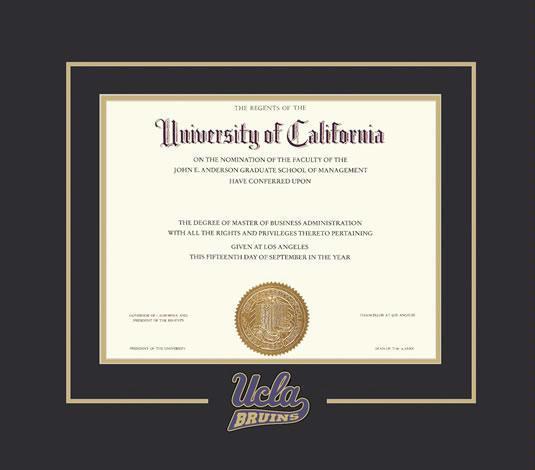 Custom Diploma Frames & Certificate Frames - Framing Success: UCLA