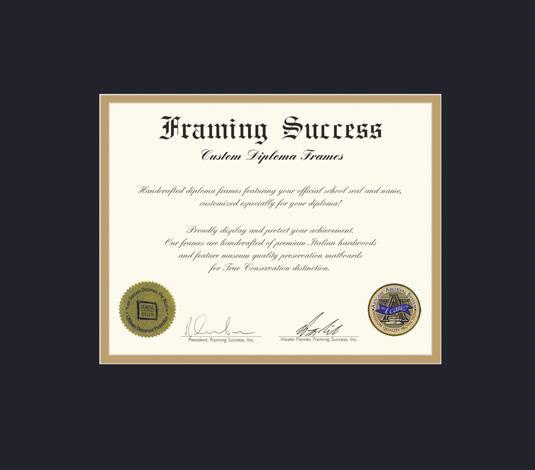 Custom Diploma Frames & Certificate Frames - Framing Success: Norco ...