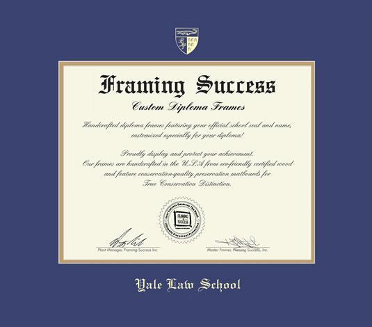 Custom Diploma Frames & Certificate Frames - Framing Success: Yale ...
