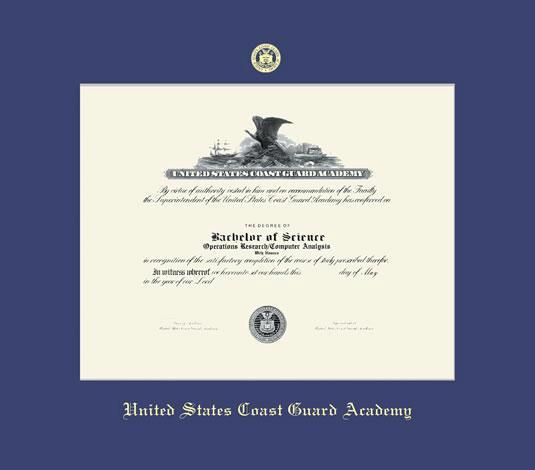 custom diploma frames certificate frames framing success u s  united states coast guard academy diploma frame royal blue mat and gold embossing approximate frame size 23 x 26 inches