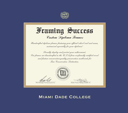 Custom Diploma Frames & Certificate Frames - Framing Success: Miami ...