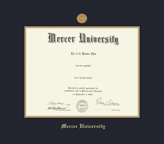 Custom Diploma Frames Certificate Frames Framing Success Mercer U Law Doc Upgrd Dip W Mdl Dbl Mat Black Gold