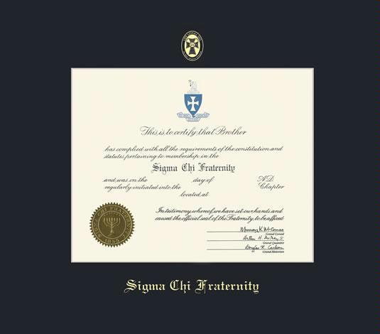 Custom Diploma Frames & Certificate Frames - Framing Success: Sigma ...