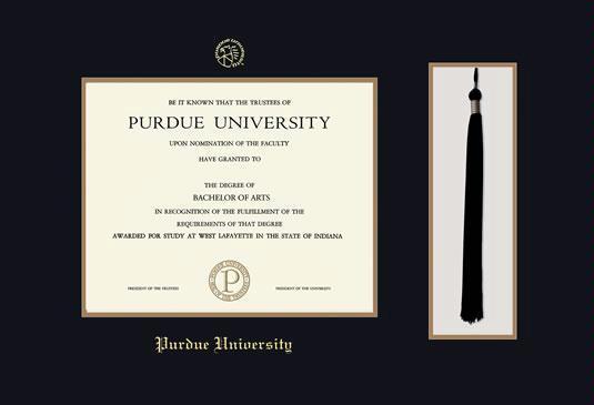 Custom Diploma Frames & Certificate Frames - Framing Success: Purdue ...