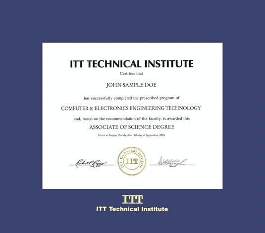 itt technical institute diploma frame with royal blue mat and gold embossing approximate frame size 15 x 17 inches - Diploma Frame Size