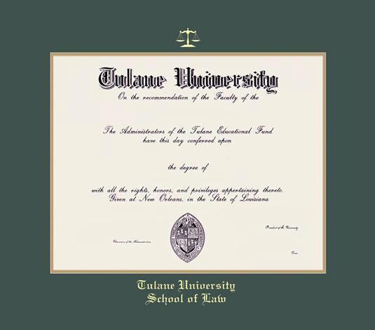 Custom Diploma Frames & Certificate Frames - Framing Success: Tulane ...