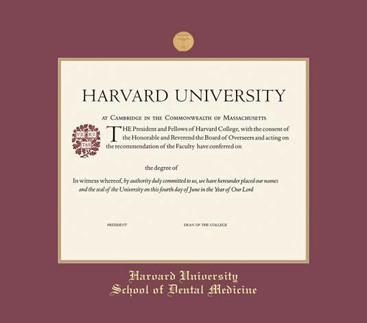 harvard university certificate dental cme frame with medallion maroon and gold double mat and gold embossing approximate frame size 17 x 19 inches