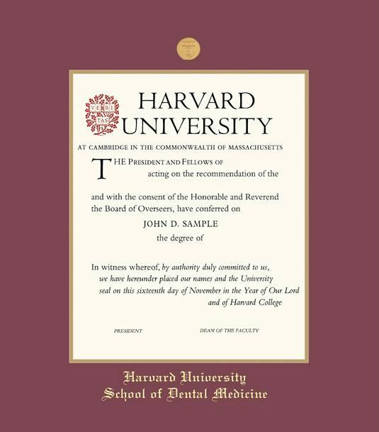 Custom diploma frames certificate frames framing success harvard university cme dental letter 11 x 85 frame with medallion and maroon and gold double mat and gold embossing stopboris Choice Image