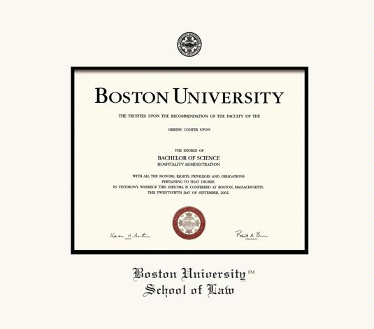 Custom Diploma Frames & Certificate Frames - Framing Success: Boston ...