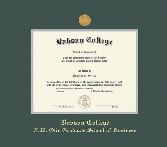 Custom Diploma Frames & Certificate Frames - Framing Success: Babson ...