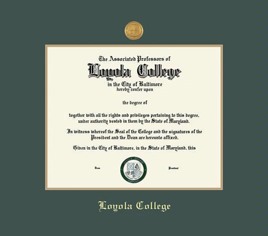 Custom Diploma Frames & Certificate Frames - Framing Success: Loyola ...