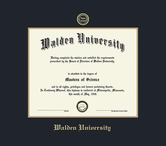 Custom Diploma Frames & Certificate Frames - Framing Success: Walden ...
