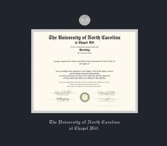 Custom Diploma Frames & Certificate Frames - Framing Success: UNC ...