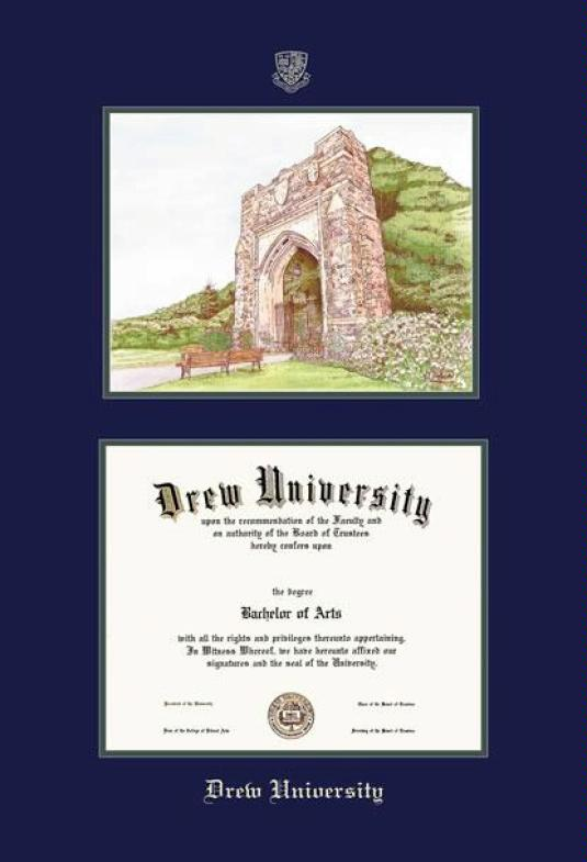 Custom Diploma Frames & Certificate Frames - Framing Success: Drew ...