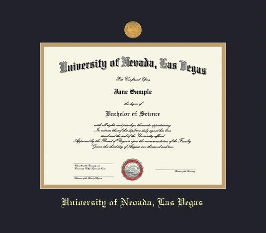 Custom Diploma Frames & Certificate Frames - Framing Success: UNLV ...