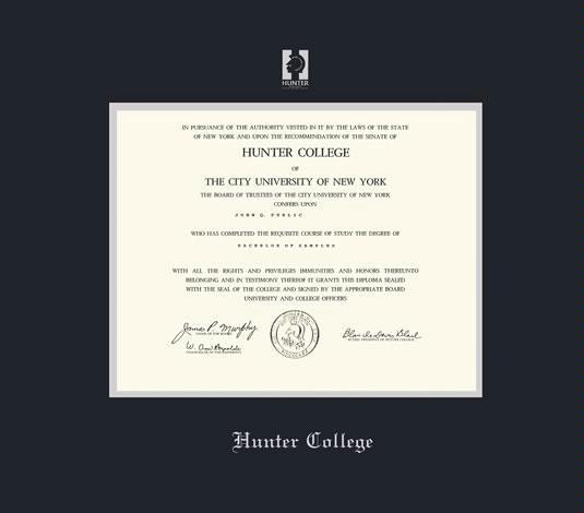 Custom Diploma Frames & Certificate Frames - Framing Success: Hunter ...