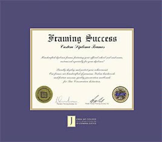 Custom Diploma Frames & Certificate Frames - Framing Success: John ...