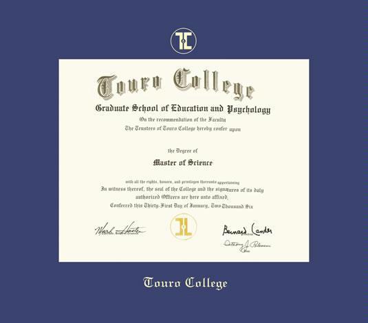 Custom Diploma Frames & Certificate Frames - Framing Success: Touro ...
