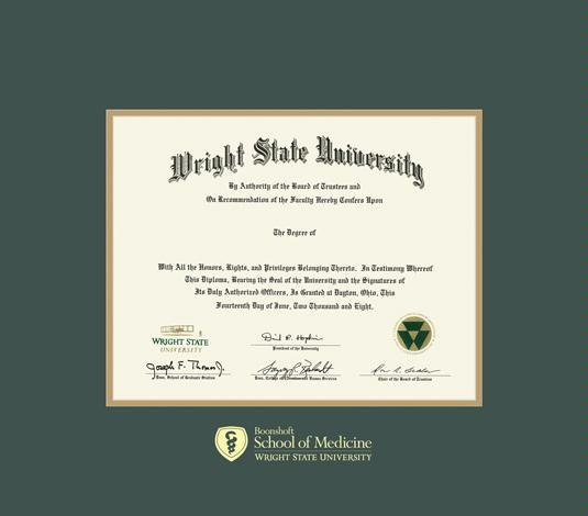 custom diploma frames certificate frames framing success  wright state university diploma md 8 10 to present frame green and gold double mat and gold embossing approximate frame size 23 x 26 inches