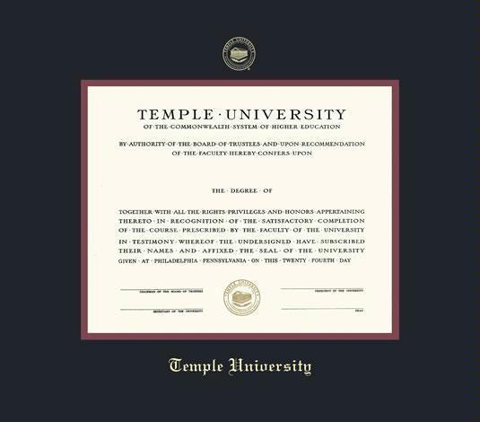 Custom Diploma Frames & Certificate Frames - Framing Success: Temple ...