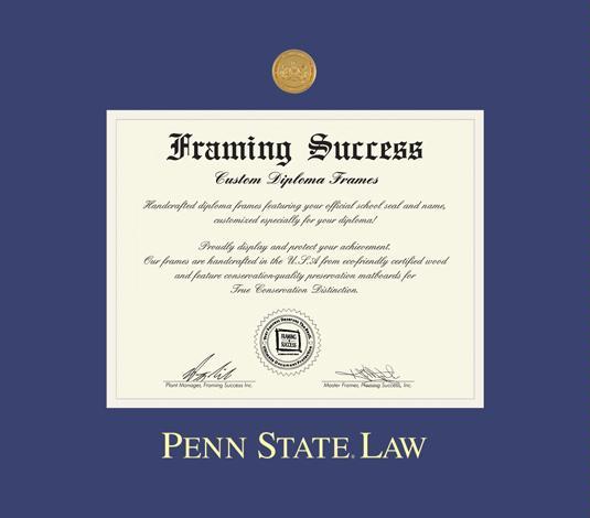 Custom Diploma Frames & Certificate Frames - Framing Success: Penn ...