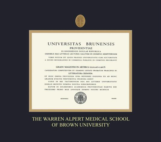 Custom Diploma Frames & Certificate Frames - Framing Success: Brown ...