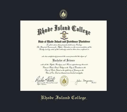 Custom Diploma Frames & Certificate Frames - Framing Success: Rhode ...