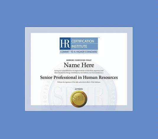 Custom Diploma Frames & Certificate Frames - Framing Success: HRCI ...