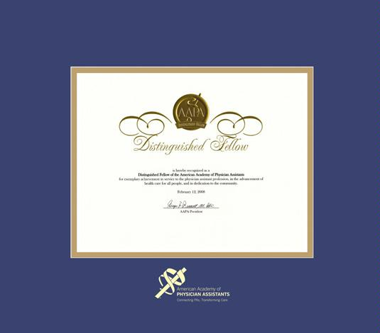 Custom Diploma Frames & Certificate Frames - Framing Success: AAPA ...