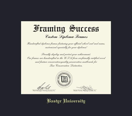 Custom Diploma Frames & Certificate Frames - Framing Success: Bastyr ...