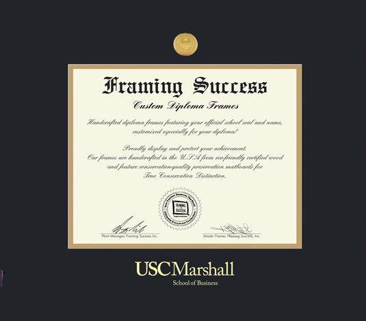 Custom Diploma Frames & Certificate Frames - Framing Success: USC ...