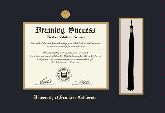 Custom Diploma Frames & Certificate Frames - Framing Success: USC-MD ...