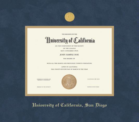 Custom Diploma Frames & Certificate Frames - Framing Success: UC San ...