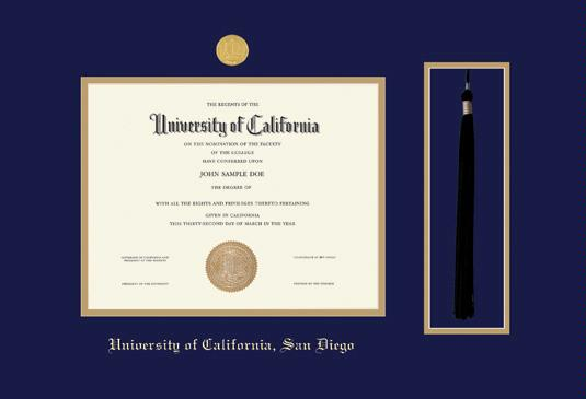 Custom Diploma Frames & Certificate Frames - Framing Success: UCSD ...