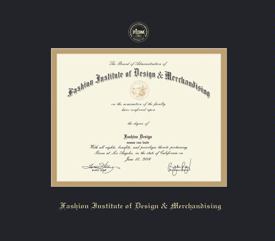 Custom Diploma Frames Certificate Frames Framing Success Fasion Inst Of Design Merch 1 15 Pres Black Gold Mat