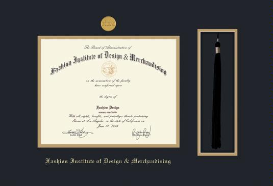 Custom Diploma Frames Certificate Frames Framing Success The Fashion Inst Of Design Merch 7 14 1 15 W Tassel