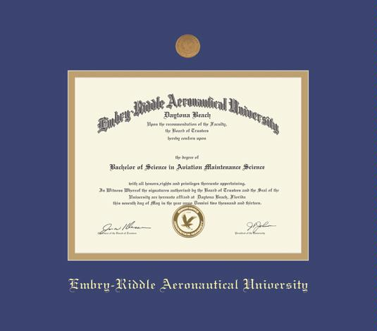 custom diploma frames certificate frames framing success  embry riddle aeronautical university diploma doc 8 12 to present frame medallion and royal blue and gold double mat and gold embossing