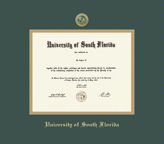 Custom Diploma Frames & Certificate Frames - Framing Success: USF BA ...