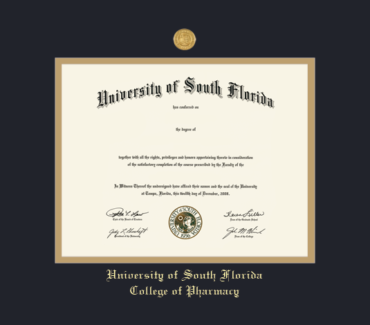 Custom Diploma Frames & Certificate Frames - Framing Success: USF ...