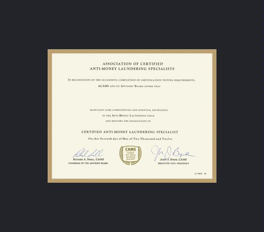 custom diploma frames & certificate frames - framing success: acams ...