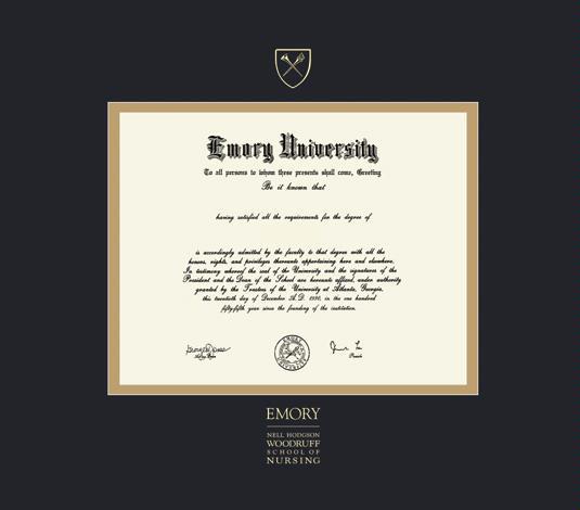 Custom Diploma Frames & Certificate Frames - Framing Success: Emory ...