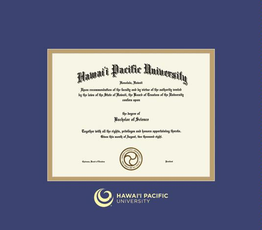 Custom Diploma Frames & Certificate Frames - Framing Success: Hawaii ...