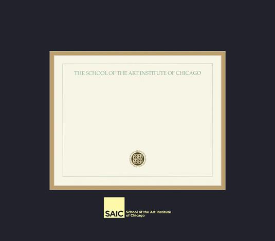 custom diploma frames certificate frames framing success  school of the art institute of chicago diploma frame black and gold double mat and gold embossing approximate frame size 17 x 19 inches