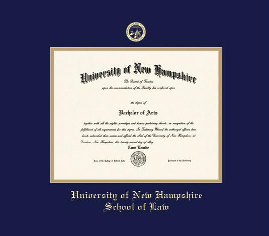 Blue 4x6 Brushed Metal Picture Frame University of New Hampshire