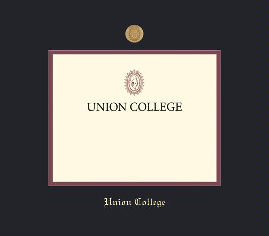 Union College Diploma (2016 To Present) Frame With Medallion And Black And  Maroon Double Mat And Gold Embossing (Approximate Frame Size 17 X 19 Inches)