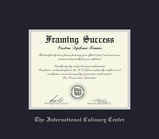 custom diploma frames certificate frames framing success the  the international culinary center diploma 11 11 to present frame black and silver double mat and silver embossing